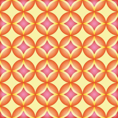 Seamless pattern, geometric pattern, abstract, rounds pattern. Modern stylish texture, pattern with orange and pink ornament. Illustration