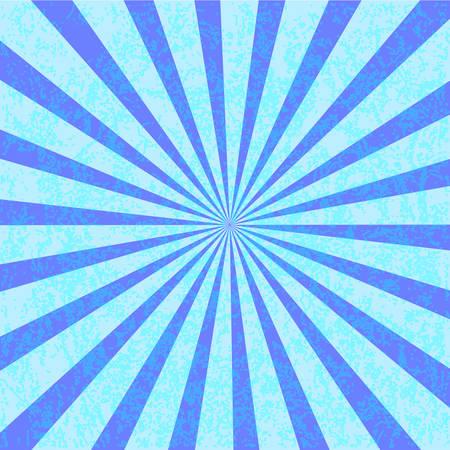 Grunge blue starburst effect background. Starburst with texture Illustration