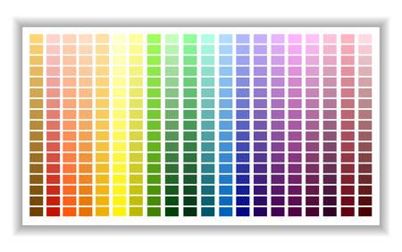 Paleta kolorów. Tabela odcieni kolorów. Ilustracja wektorowa