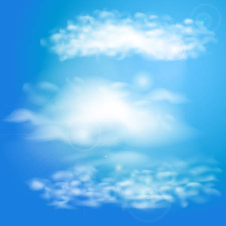Blue sky with clouds vector illustration
