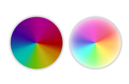 Set of color wheels.Circle color palette. Vector illustration