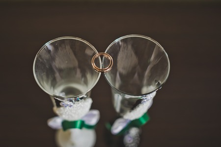 patten: Patten glasses for a newly-married couple.