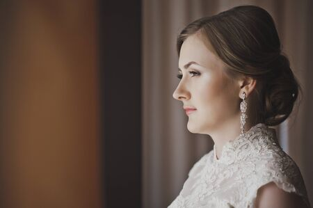 cute blonde: An example of creating a wedding image.