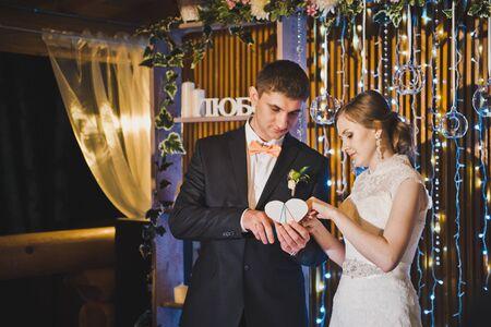 Verlaat een nacht huwelijksceremonie.