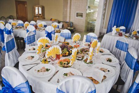 Vector festivo con platos.