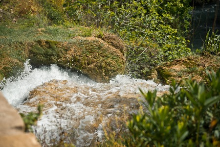 Beautiful pictures of the waterfall Upper Duden.