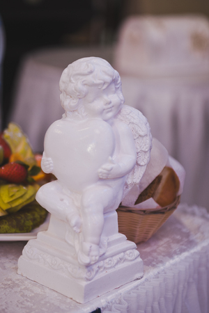 Angel figurine as a table decoration.