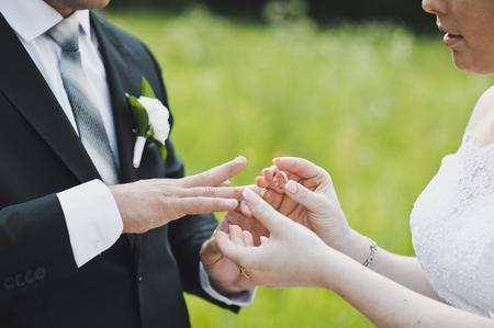 Exchange Of Wedding Rings Stock Photos Royalty Free Exchange Of