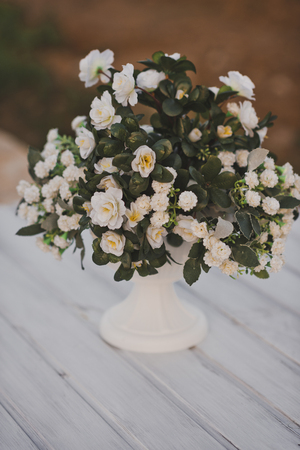 Terry bouquet of Jasmine or mock orange.