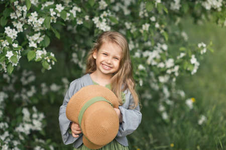 Large portrait of a Young girl with a beautiful smile. Stockfoto - 112120839