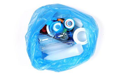 Plastic trash.Ecology concept. Pollution environment disaster. Archivio Fotografico