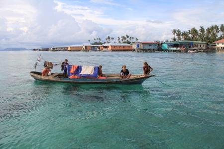 mabul: Sea gypsies around Mabul Island