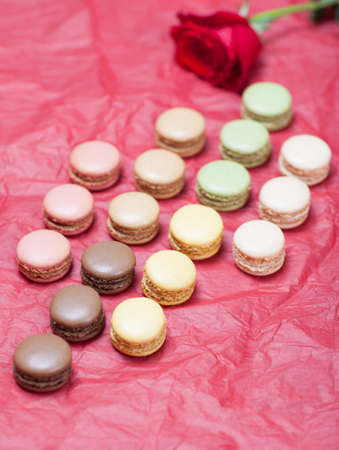 Macaroon on a paper background photo