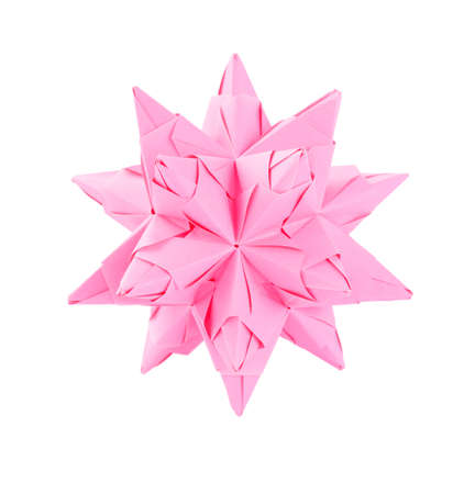 Pink origami photo