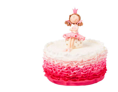 Beautiful cake with princess top photo