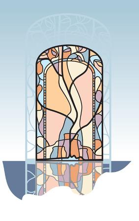 glass doors: vitrag Illustration