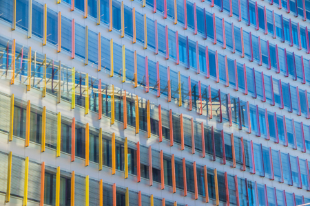 The windows of the Gazprom business center in St. Petersburg. The business center is June 2018. Mirror windows