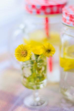 Glasses with homemade lemon lemonade. cold drink. Carbonated drink Stock fotó