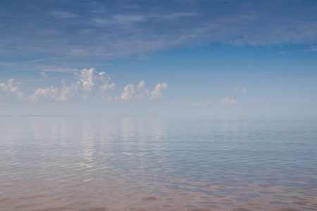 The Gulf of Finland. Sea in calm weather. Sea in clear weather. Sea without waves. 版權商用圖片