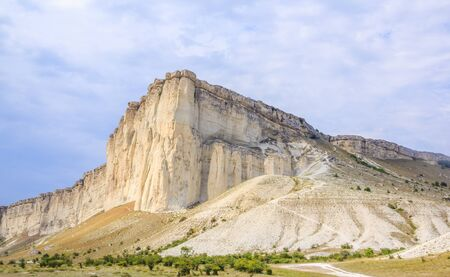 White rock in the Crimea. White rock Sights of Crimea. Banque d'images