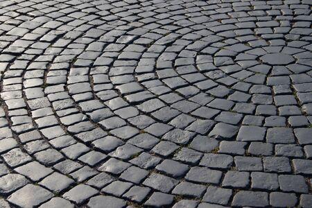 The old pavement. Pedestrian area. Standard-Bild