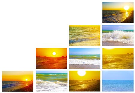 Collage of seascapes.