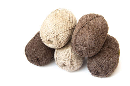 Wool yarns for knitting. 版權商用圖片