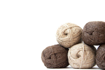 Wool yarns for knitting. Wool thread for knitting.