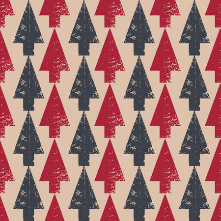 Christmas tree pattern in modern geometry style. Illustration
