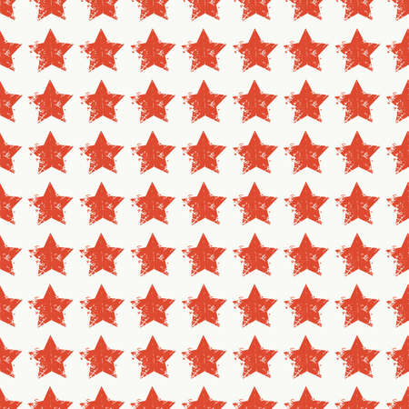 Vector seamless pattern of stars. Delave effect, grunge style.