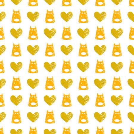 seamless dog pattern vector illustration