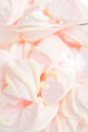 pastila: Pastel food background - pink pastila