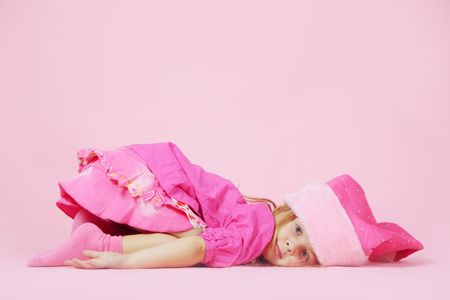 Portrait of lovely little Santa helper child Stock Photo - 5858035