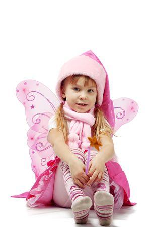 Portrait of sweet little girl in Christmas fairy costume Stock Photo - 5918378