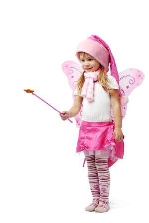 Portrait of sweet little girl in Christmas fairy costume Stock Photo - 5918369