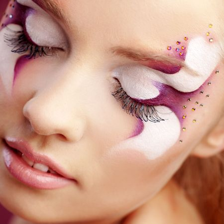 faceart: Beautiful fantasy eye face-art close-up