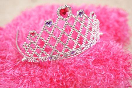 Tiara for little princess on pillow photo