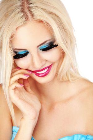 Beautiful young woman with fashion make-up Stock Photo - 7596306