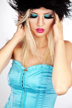 Beautiful young woman with fashion make-up Stock Photo - 7596305