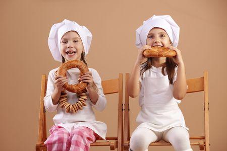 Little cute baker studio shot Stock Photo - 8131464