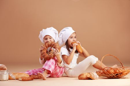 Little cute baker studio shot Stock Photo - 8131463