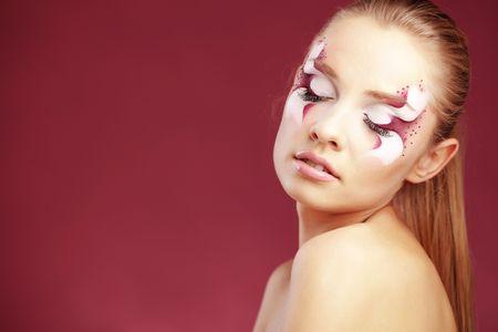 Beautiful fantasy eye face-art close-up Stock Photo - 8131527