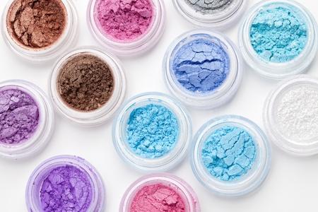 Set of colorful makeup powder eyeshadow Stock Photo - 9294962