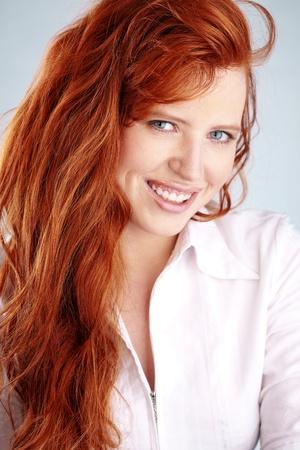beautiful redheaded woman Stock Photo