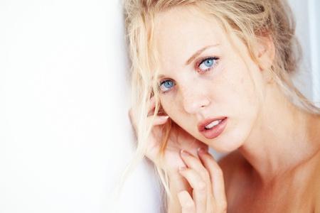Sensual portrait of beautiful young blond woman Stock Photo - 9966960