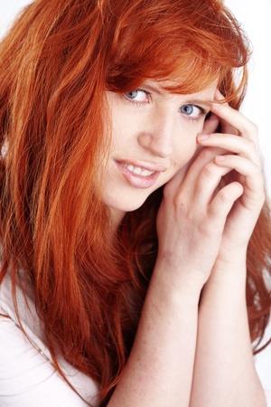 Photo of beautiful redheaded woman