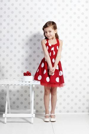 ni�o modelo: Retrato de la peque�a chica de