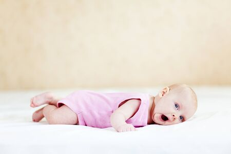 baby sleep: Portrait of a two months old baby