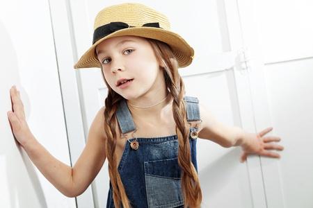 Studio portrait of cute little princess wearing beautiful tutu skirt