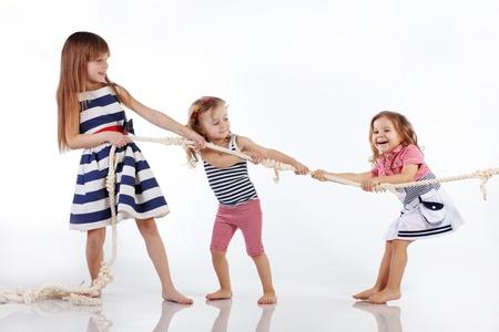 niño modelo: Retrato de estudio de los niños el tema del mar Foto de archivo